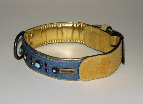 STARLIGHT LINE TEXAS COLLAR (cm 65 x 4 = 25.60 x 1.58 in)